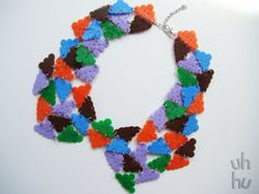 Geeky triangulations collar by UHHU on Etsy, €15.00