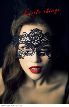 High Quality Halloween Masquerade Sexy Lady Black Lace Mask Cutout Mask Lace Veil Sexy Prom Fashion Cutout Mask Blindages-in Party Masks fro...