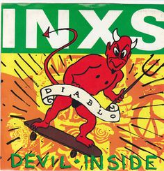"INXS / Devil Inside / On the Rocks / 7"" Vinyl 45 RPM Jukebox Record & Picture Sleeve #MichaelHutchence #Diablo"