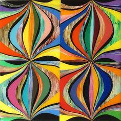 "Mark Ottens, UNTITLED (Small Onions), Acrylic on Panel, 12 x 12 x 2"""