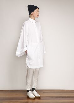 Acne Studios Caden Tech Dress in Paper White