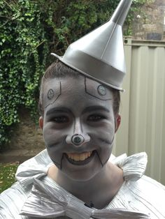 Tin Man Funnel Hat The Wizard Of Oz Adult Cap Silver Top Headpiece Costume Prop
