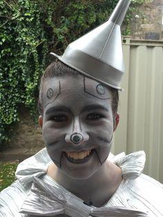 Tin Man, wizard of Oz face paint