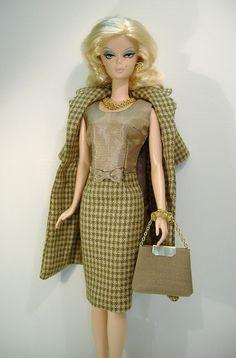 Handmade Coat and Dress for the original Silkstone Barbie body (non-articulated)