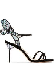 Chiara patent-leather and suede sandals