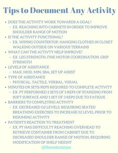 Shoulder Range Of Motion, Ergo, Soap Note, Recreational Therapy, Occupational Therapy Assistant, Work Goals, Notes Template, Social Emotional Learning, School Notes
