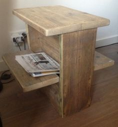 krantenbak steigerhout