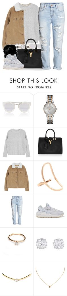 """""""Up, Up, & Away"""" by oh-aurora ❤ liked on Polyvore featuring Christian Dior, GUESS, Yves Saint Laurent, Repossi, H&M, NIKE, women's clothing, women, female and woman"""