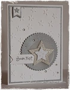 Thursday 20 November 2014 Fienchen´s Stempelwelt: Stampin' Up! Lucky Stars EF, star framelits