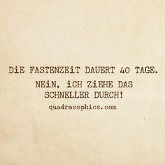 #Quadrasophics #Fastenzeit