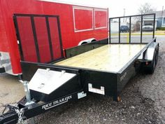 """82 x 16 Utility Trailer, Solid 14"""" sides, SIDE RAMP, POWDER COAT TULSA2014 NEW 82"""" X 16' TANDEM STEALTH UTILITY TRAILER, Black Perfect for Quads, ATV, RZR, Ranger, Motorcycles, Landscaping, Mowing Hitch It Trailer Sales, Trailer Parts, Service & Truck Accessories The ONLY dealers in Northeast Oklahoma for Rice, Big Tex, Haulmark and Lark Trailers. 305 W. Kenosha Broken Arrow, OK 74012 918-286-7900 www.HitchItBA.com www.facebook.com/HitchIt Check Inventory at…"""