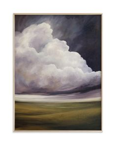 """""""Amethyst Evening"""" - Limited Edition Art Print by Mya Bessette in beautiful frame options and a variety of sizes. Big Sky Country, Green Landscape, Arte Popular, Art Wall Kids, Beauty Art, Abstract Watercolor, Custom Art, Painting Inspiration, Landscape Paintings"""