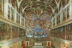 De achtermuur werd na de dood van Michelangelo gecensureerd. Michelangelo schilderde geslachtsdelen in Sixtijnse Kapel