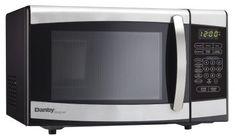 Danby Designer 0.7 cu.ft. Countertop Microwave, Black/Stainless Steel