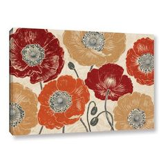 "Mercury Row A Poppys Touch Master Painting Print on Wrapped Canvas Size: 16"" H x 24"" W x 2"" D"