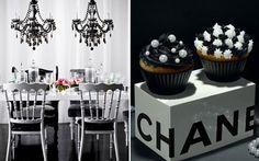 Fuja do rosa! Aposte na decoração em preto e branco para a sua festa de 15 anos! - Blog 15 anos - CAPRICHO