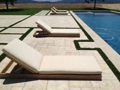 Amalfi Teak Sun Lounger's are ideal for relaxing by the pool.