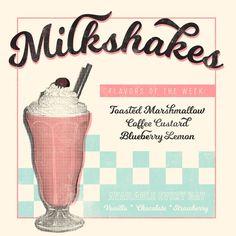 Milkshake - free font from fairgoods.com