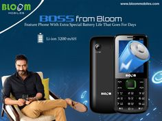 No time to charge your phone everyday? Work do not give you ample of time to charge your phone? Looking for a phone which can go on for days in a single charge? Now your search ends. Bloom offers y...