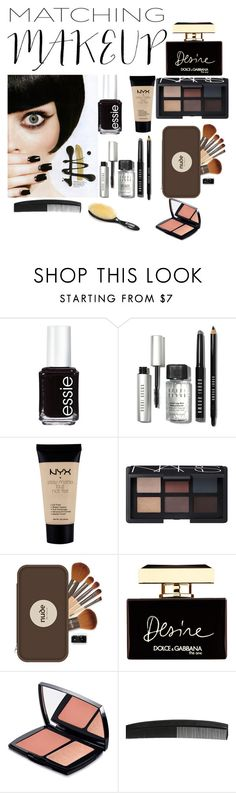 """""""Black 'n Gold"""" by brigitte-amaretti on Polyvore featuring beauty, Essie, Bobbi Brown Cosmetics, NYX, NARS Cosmetics, Nude by Nature, Dolce&Gabbana, Lancôme, vintage and matchingmakeup"""