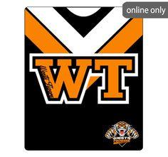 nrl-team-logo-polar-fleece-printed-155x127cm-throw-west-tigers Nrl Merchandise, Wests Tigers, Quilt Cover Sets, Polar Fleece, Team Logo, Football, Quilts, Printed, Logos