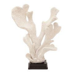 Benzara Polyresin Coral 12-inch, 16-inch