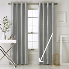 west elm's rugs and curtains add style to the home. Choose from window panels, drapes, shades and rugs to update any room. Silk Curtains, Grey Curtains, Drapery Panels, Grommet Curtains, Window Panels, Bedroom Curtains, Hanging Drapes, Curtain Weights, How To Make Curtains