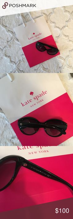"""🌴 NWOT Kate Spade """"Sherrie"""" Black Sunglasses These retro-inspired cat eye sunnies from Kate Spade add the perfect touch of glam to any outfit. BRAND NEW, NEVER WORN with no flaws or signs of wear. 🌺  ✨If you have questions, please review my closet policies or feel free to ask!  ✨Reasonable offers welcome!  ✨15% off bundles of 2 or more!  ✨Look for items in my closet with a 🌴 for high end designers at great prices! kate spade Accessories Sunglasses"""