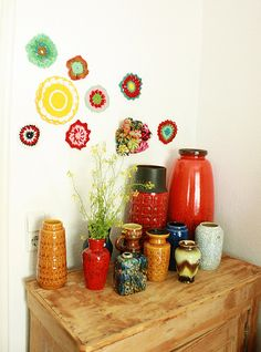 West German colorful pottery collection