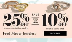 Off Plus Extra Off Sale Still Live on Fred Meyer Jewelers Fred Meyer, Fine Jewelry, Jewels, Engagement, Live, Jewelery, Gemstones, Engagements, Jewelry