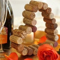 Cork Heart A creative way to display the special bottles of wine you shared with your loved ones!