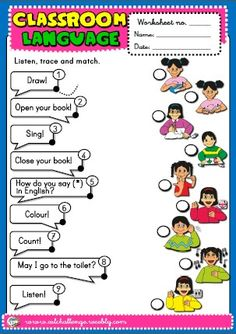 CLASSROOM LANGUAGE WORKSHEET http://eslchallenge.weebly.com/english-yes-1.html