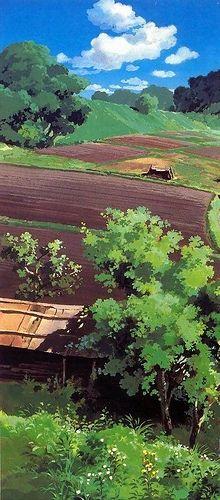 Fantasy Landscape, Landscape Art, Landscape Paintings, Landscapes, Studio Ghibli Background, Animation Background, Environment Concept Art, Environment Design, Hayao Miyazaki