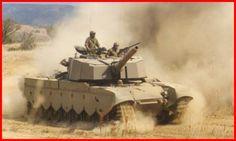 SADF Olifant Tank during exercises.
