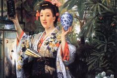 A Young Woman Holds Japanese Goods, by James Tissot