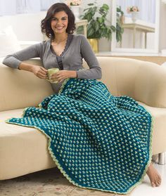 Let's Relax Throw - Experience true comfort as you relax with this oh-so nice crocheted throw. The timeless pattern is versatile enough to look great in most any color combination.