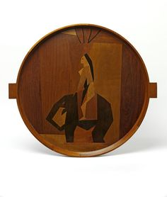 Marquetry tray by Duncan Grant for the Omega Workshop, 1914