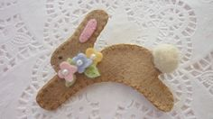Felted Wool Felt Light Tan Brown  Spring Easter by pennysbykristie, $14.00