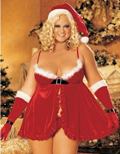 This holiday season you can choose to be naughty or nice! Give yourself a sexy Santa look wearing our adorable Velvet Babydoll that features maribou trim along the slightly padded, underwire cups with hook front closure, adjustable straps, velvet belt. www.loverslane.com #loverslane