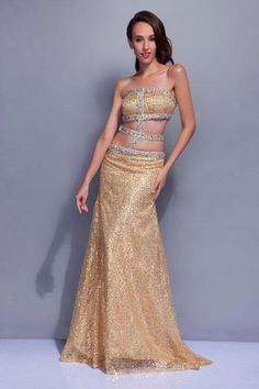 CLICK IMAGE TWICE FOR PRICING AND INFO:) #women #womendresses #eveninggown #cocktaildress #wedding #weddinggown #eveningdresses #prom #debut #partydress #bridesmaid SEE MORE strapless womens dresses at http://www.zbrands.com/Strapless-Womens-Dresses-C60.aspx Exquisite Sheath Strapless Sweep Train Sequins Beading Prom Dress SSC4781-TB