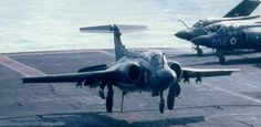 Buccaneer landing on Ark Royal Navy Aircraft, Aircraft Photos, Ww2 Aircraft, Aircraft Carrier, Military Aircraft, Blackburn Buccaneer, Hms Ark Royal, Marine Commandos, British Armed Forces