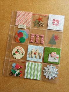 December Daily Pockets by mcsmurf at @studio_calico Christmas Mini Albums, Christmas Journal, Christmas Scrapbook, Christmas Minis, Christmas Crafts, December Daily, Daily Day, Pocket Page Scrapbooking, Scrapbooking Layouts