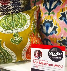 Talk about great colour?!?!?!?!? Amazing hand-woven silk velvet ikats and hand-embroidered suzani pillows from Diodba at Market Square. 305 West High Street. #HPMKT #HPMKTSS