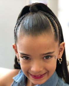 Image may contain: 1 person, closeup Baby Girl Hairstyles, Braided Hairstyles, Girl Hair Dos, Big Curly Hair, Natural Hair Styles, Long Hair Styles, Holiday Hairstyles, Hair Laid, Toddler Hair
