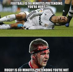 Rugby is a sport for Men. Rugby players do want to play, football players want… Soccer Memes, Football Memes, Sports Memes, Nrl Memes, Rugby Vs Football, Rugby Men, Rugby Sport, Rugby Girls, Irish Rugby Team