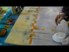 "▶ Acrylmalerei abstract acrylic painting Demo Abstraktes Bild malen ""Loud"" - YouTube"