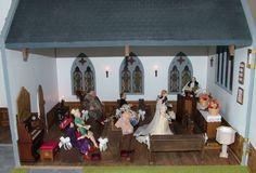 One of A Kind 1 12 Scale Dollhouse English Village Church | eBay
