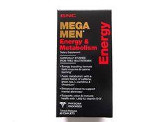GNC Mega Men Energy & Metabolism 90ct Caplets Multi Vit Exp.05/2016 (FREE SHIP) #GNC