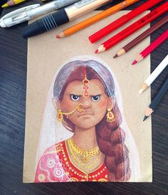 Mad Indian Beauty.  #illustration #illustrator #art #artist #artwork #sketch…