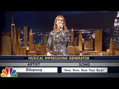"Jimmy challenges Céline to a game of random musical impressions, such as Sia singing ""Hush, Little Baby."" Subscribe NOW to The Tonight Show Starring Jimmy Fa..."